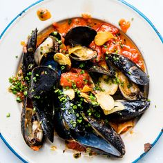 Mussels steam in the same saucepan as chili-and-fennel-spiced tomato sauce in this effortless supper.