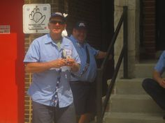 LAUREL AND HARDY??  No!  Mike & Joe wait outside before working on 7/31/14