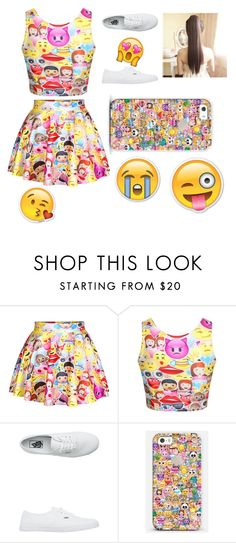 """""""get your emoji on!"""" by colonkairee on Polyvore featuring Vans and Casetify"""