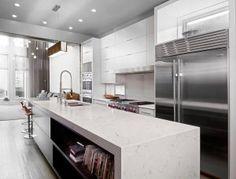 Modern Kitchen with Cambria Quartz Marble Collection, Swanbridge Countertops Cambria Quartz Countertops, Custom Countertops, Kitchen Countertops, Kitchen Island, Kitchen Cabinetry, Cabinets, Best Countertop Material, Countertop Materials, Grey Kitchen Designs