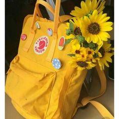 yellow, flowers, and aesthetic image - Fjällräven Kanken - Flower Kånken Rucksack, Kanken Backpack, Aesthetic Colors, Aesthetic Images, Aesthetic Yellow, Aesthetic Example, Artist Aesthetic, Aesthetic Grunge, Aesthetic Fashion