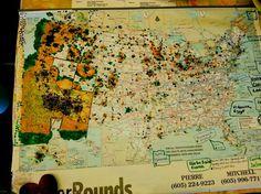 Ever wonder where Snowbirds come from? Quartzsite vendors surveyed their customers, asking them to mark their home location.   http://www.VisitQuartzsite.com