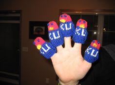 What's better than 1 Jayhawk?  Five Jayhawks!  Very cute finger puppets!