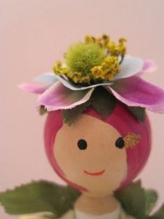 Fairy Garden Party - Clothespin Flower fairy doll