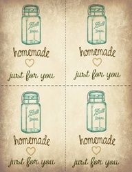 Lots of free, editable, printable labels for handmade gifts, home organization, etc.