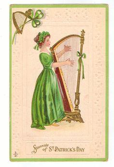 1911 Vintage St. Patrick's Day Postcard by lotsofpostcards on Etsy