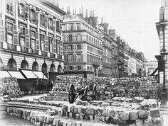 Barricade in the Rue de la Paix - Paris Commune 1871, by Bruno Braquehais