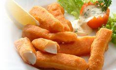Receta de Deditos de Tilapia - PRONACA Onion Rings, Carrots, Vegetables, Ethnic Recipes, Ecuador, Food, Seafood, Cooking Recipes, Meals
