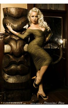 Monica Dress in Gold Jersey Knit Fabric - Viva Las Vegas - Collections | Pinup Girl Clothing