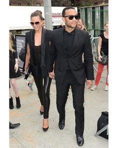 John Legend and Chrissy Telgen in NYC.