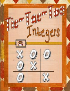 Integers Tic Tac Toe Multiplication and Division by Melaine Crowder