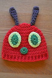 Ravelry: Hungry Caterpillar Baby Hat pattern by Mary Hodges. Free pattern.