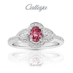 Discover the Art of Calleija. International award winning fine jewellery and home to the exclusive Glacier Diamond - Argyle Pink Diamond Specialists. Pink Diamond Engagement Ring, Colored Engagement Rings, Gemstone Engagement Rings, Argyle Pink Diamonds, Colored Diamonds, Platinum Ring, Wow Products, Wedding Bands, Heart Ring