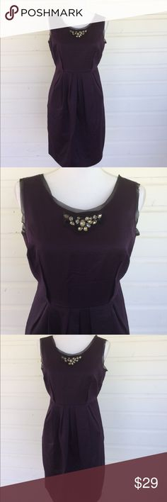 Dark Purple Fit and Flare Dress with Pockets Dark purple looks amazing on so many skin tones. Gorgeous silk with modest beading. So pretty. Pleats and pockets = super cute. Great condition. Offers always warmly received. Measurements to come Simply Vera Vera Wang Dresses