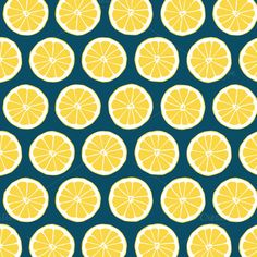 Ad: Summer Citrus Digital Lemon Patterns by Blixa 6 Studios on Crafted in sunny citrus tones of lemon yellow, grapefruit pink and tangerine orange and classic navy blue, these coordinating digital Cute Wallpapers, Wallpaper Backgrounds, Fantastic Wallpapers, Yellow Pattern, Pretty Patterns, Graphic Patterns, Surface Pattern Design, Digital Pattern, Pattern Wallpaper