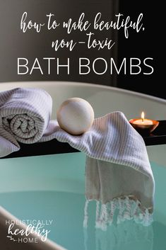 How to make gorgeous, non-toxic bath bombs (with easy recipe)! These are simple to whip up and a fun project to do with kids. Great for a relaxing bath after a long day.   #bathbombs #diybathbombs #bathbombrecipe #nontoxicbathbomb #essentialoils #stressrelief #selfcare