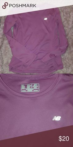 New Balance Mauve Long Sleeve Top Like new only wore once ~ Adult Small beautiful Mauve color. 100% polyester Has stretch can be worn casual or workout attire New Balance Tops Tees - Long Sleeve
