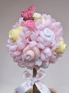 Baby Girl Topiary Baby Shower Centerpiece Baby by VioletCreationz, $35.99