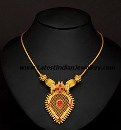 Trendy Light Weight Necklace Gallery with Ruby and Emerald | Latest Indian Jewellery Designs