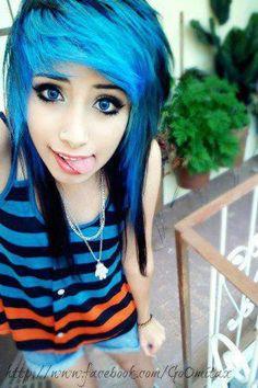 #blue & #black #hair