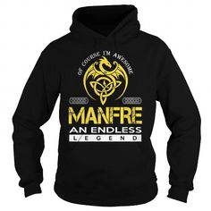 Awesome Tee MANFRE An Endless Legend (Dragon) - Last Name, Surname T-Shirt Shirts & Tees