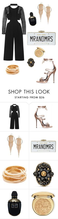 """""""Başlıksız #916"""" by gubse-oz ❤ liked on Polyvore featuring self-portrait, Panacea, Kate Spade, Kenneth Jay Lane, Gucci, Alexander McQueen and Christian Dior"""