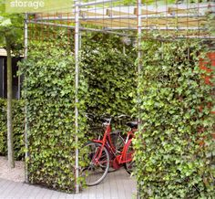 Where's the bike? Where's the bike? Garden Structures, Outdoor Structures, Bike Shelter, Country Backyards, Range Velo, Bicycle Art, Bicycle Basket, Bicycle Storage, Bike Shed