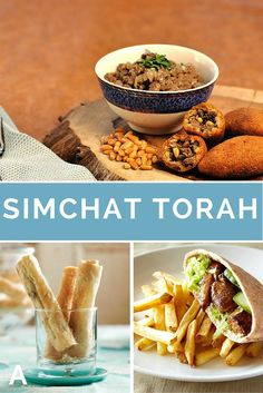 A complete Simchat Torah menu. Easy finger food for a special lunch or dinner.