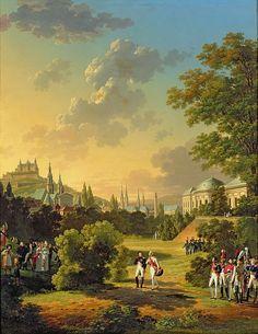 Meeting Between Napoleon I and Ferdinand III Grand Duke of Tuscany at Wurtzburg by Hippolyte Lecomte