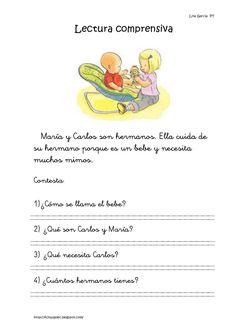 Lecturas comprensivas 11 15 Spanish Classroom, Teaching Spanish, Speech Language Therapy, Speech And Language, Montessori Activities, Activities For Kids, Free Spanish Lessons, How To Speak Spanish, Learn Spanish