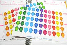 48 Jewel Tear Drop Planner Stickers For Your Erin Condren Life Planner