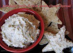 Artichoke, Garlic and Herb Cream Cheese Spread - great App!