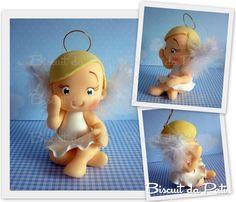 Baby ángel cake topper.