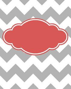 Maybe I Should Try....: Freebie! Cute Binder Covers. Gray & white chevron with blank orange label. Printables  for DIY crafts.