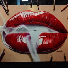 Lip drawing using Prismcolor pencils art drawing  Art for the ...