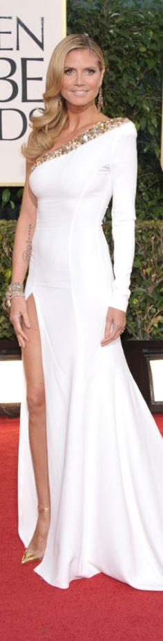Heidi Klum in Alexandre Vauthier 2013 Golden Globes