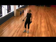 Sally Symonds, founder of Love Your Weight Loss, demonstrates the fencing exercise. Great for weight loss, the fencing exercise is also a terrific workout for your legs and core muscles.    Start position:  Start standing with your feet shoulder-width apart and hold a dumbbell in one hand.     Movement:  Take step forward into a forward lunge and as y...
