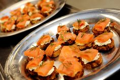 Smoked Salmon on a Canape. Catering by Fresh Ideas.