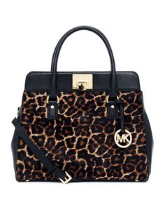 MICHAEL Michael Kors  Large Astrid Calf-Hair Satchel.