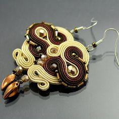 Soutache Earrings Marsh Ular  will add glamour to by OzdobyZiemi