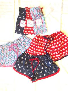 super cute light weight cotton boxer shorts are geat for a day at the beach or lounging around the pool.