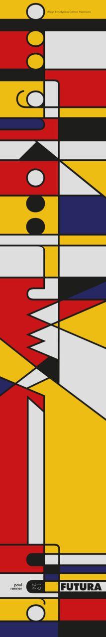 Typographic panorama presenting futura    by Wu Design Lab