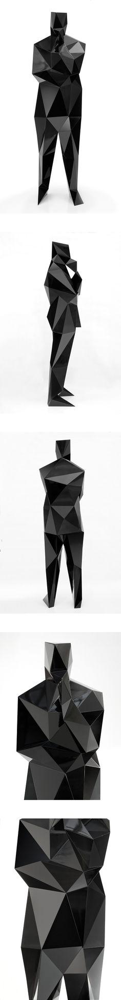 Xavier Veilhan -   Norman Foster (black)