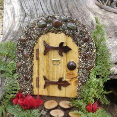 Miniature Garden Fairy, Gnome, Hobbit, Elf, Troll door, Fae style Rock Door.