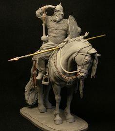 The legendary Russian bogatyr (warrior) Ilya Muromets. 90mm.