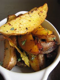 my darling lemon thyme: spiced potato wedges with oregano, paprika and chilli recipe