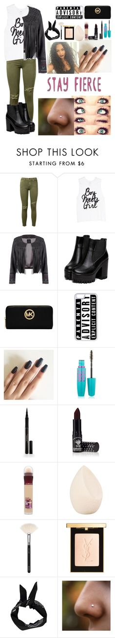 """""""THANK YOU"""" by musicmaniac12 on Polyvore featuring Current/Elliott, Lea Lov, Michael Kors, CellPowerCases, Maybelline, Elizabeth Arden, Manic Panic NYC, Christian Dior, ZOEVA and Yves Saint Laurent"""
