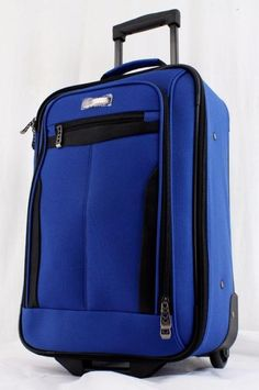 "TRAVEL SELECT SEGOVIA 19"" BLUE INTERNATIONAL ROLLING CARRY ON SUITCASE 1 Track Page Views WithAuctiva's FREE Counter #rolling #carry #suitcase #international #blue #select #segovia #travel"
