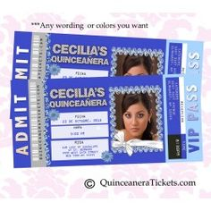 Royal Blue Photo Quince Invitations, Sweet 15 Invites