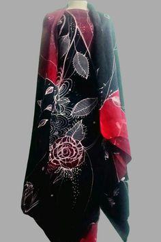 Batik Sutera batik canting Kemeja batik fesyen muslimah kaftan